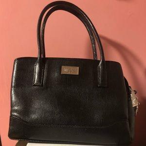 Mini Black Faux-Leather Purse